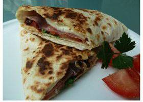 Warme Italiaanse wrap